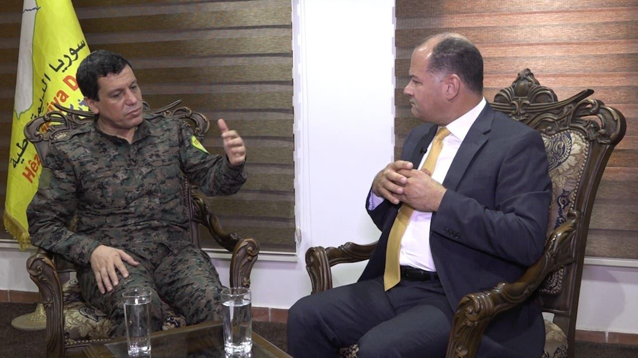 جانب من حوار مظلوم عبدي مع الإعلام المصري