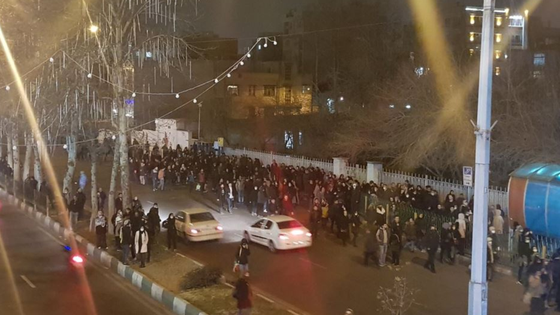 protests in Iran on January 12 2020 (Twitter)