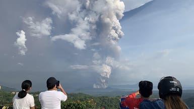 """الفلبين.. ثوران بركان """"تال"""" يصيب العاصمة مانيلا بالشلل"""
