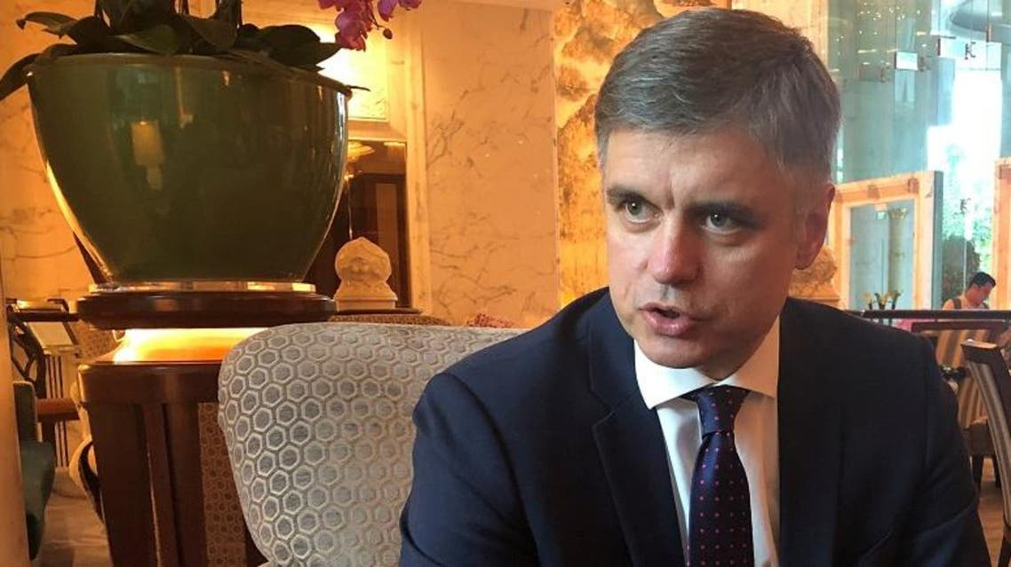 Ukrainian Foreign Minister Vadym Prystaiko speaks to Reuters on the sidelines of an official visit to Singapore, January 13, 2020. (Reuters)