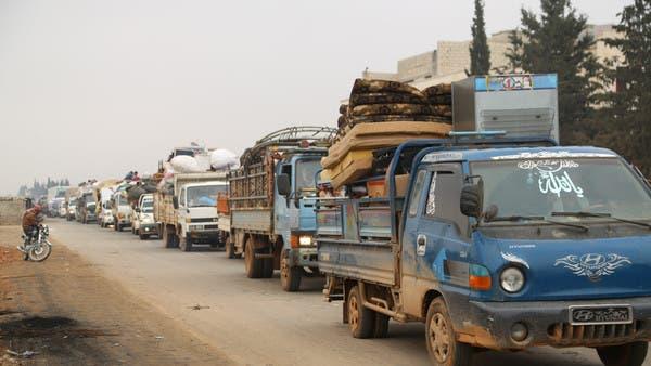 إدلب.. فتح 3 نقاط جديدة لإجلاء المدنيين