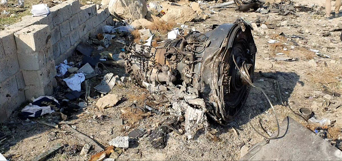 General view of the debris of the Ukraine International Airlines, flight PS752, that was downed after take-off from Iran's Imam Khomeini airport, on the outskirts of Tehran, Iran. (Reuters)