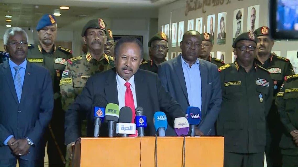 حمدوك: نثق بقدرة الجيش السوداني على حفظ الأمن