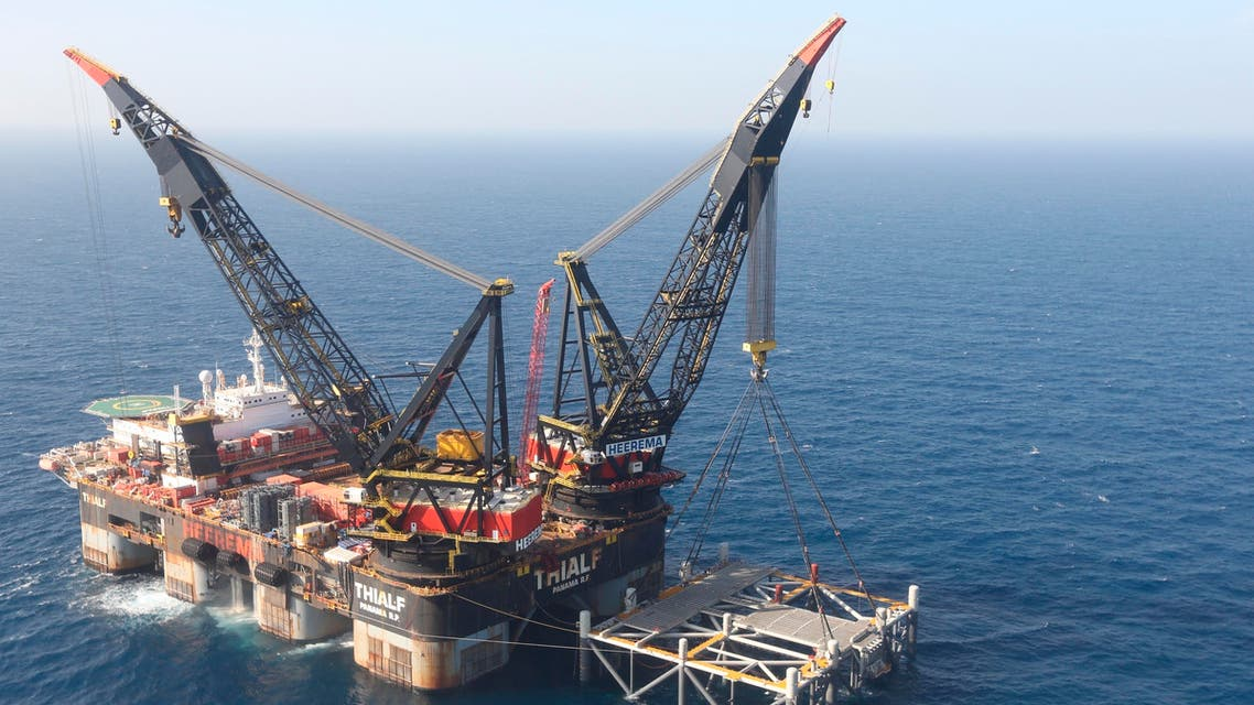 An oil platform off the Israeli coast, pictured January 31, 2019. (File photo: AP)