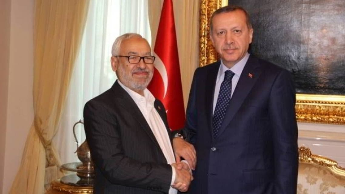 أردوغان وراشد الغنوشي
