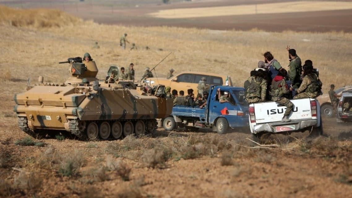 مقاتلون موالين لتركيا - فرانس برس