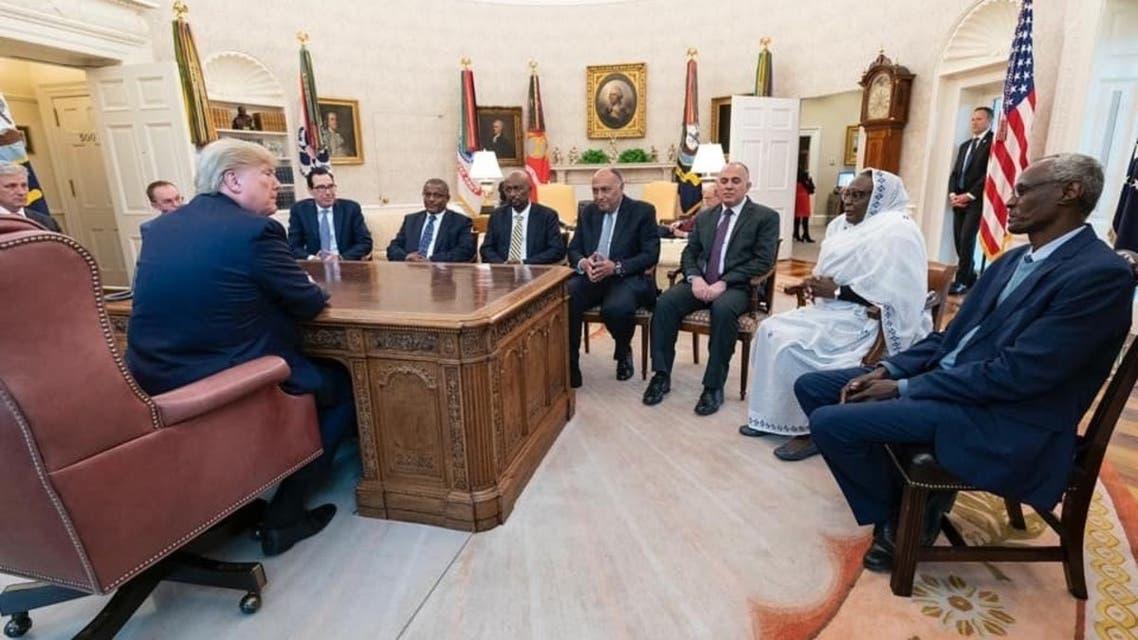 من اجتماع الرئيس الاميركي مع وزراء الخارجية والري بالدول الثلاث