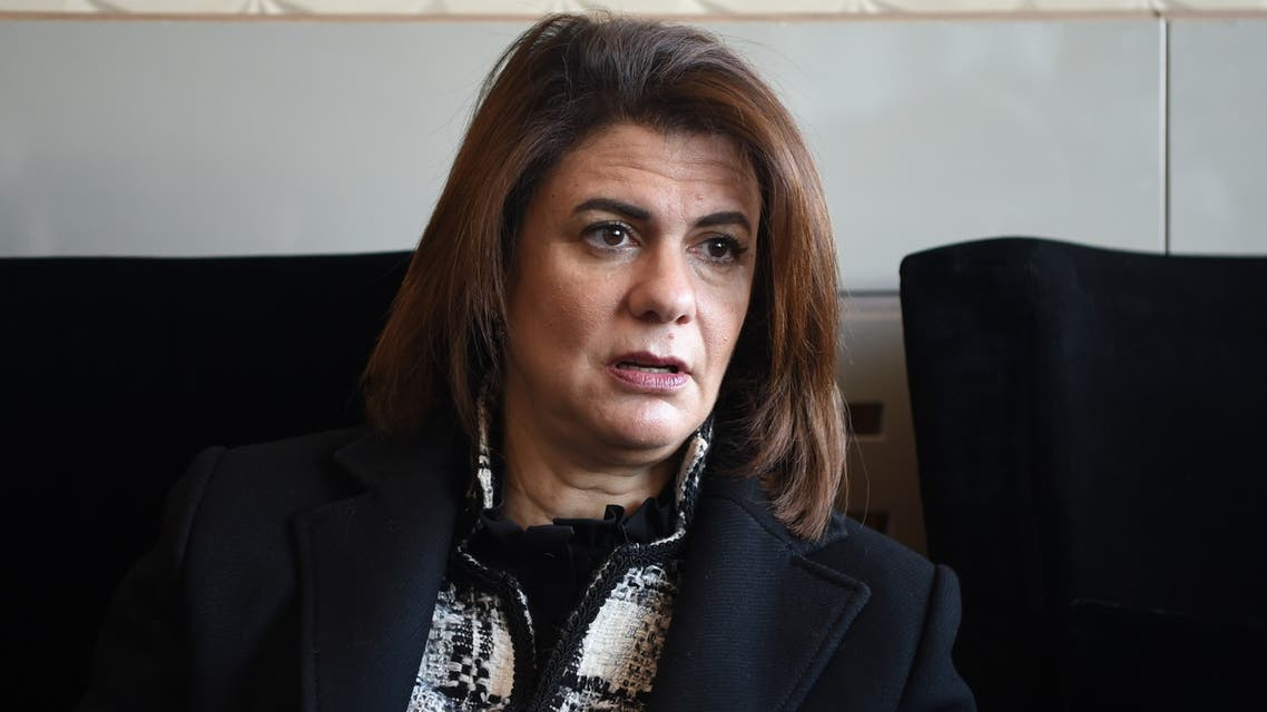 Lebanese Interior Minister Raya al-Hassan attends the opening session of a meeting of Arab Interior and Justice Ministers in the Tunisian capital Tunis on March 4, 2019.