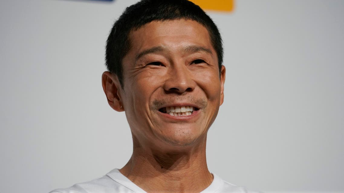 Zozo founder Yusaku Maezawa attends a news conference Thursday, Sept. 12, 2019, in Tokyo. (AP)