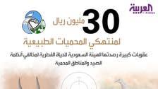 30 مليون ريال سقف غرامة الصيد الجائر في السعودية