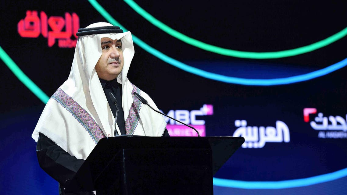 MBC Group Chairman, Sheikh Waleed al-Ibrahim at the Shahid re-launch event. (Supplied)