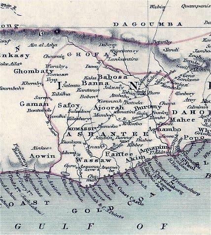 خريطة مملكة أشانتي
