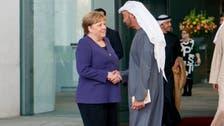 محمد بن زايد يبحث مع ميركل ببرلين الوضع في ليبيا