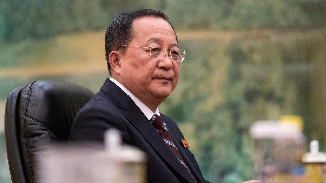 North Korean Foreign Minister Ri Yong Ho attends a meeting with China's President Xi Jinping at the Great Hall of the People in Beijing, on December 7, 2018. (AFP)
