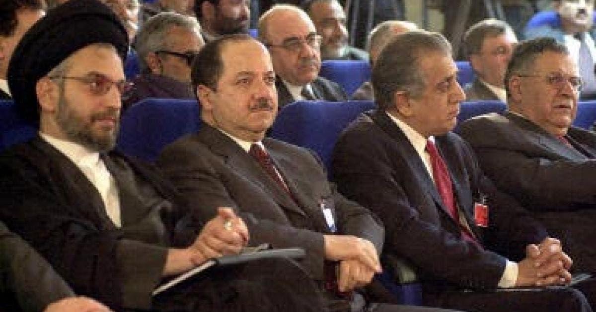زلماي خليل زاد خلال مؤتمر للمعارضة العراقية
