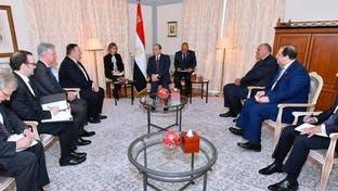 السيسي وبومبيو يبحثان الحل الشامل في ليبيا