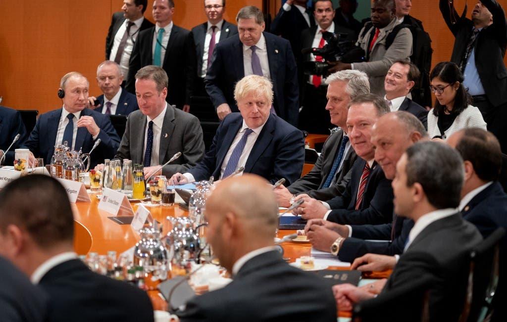 جانب من لقاءات قمة برلين