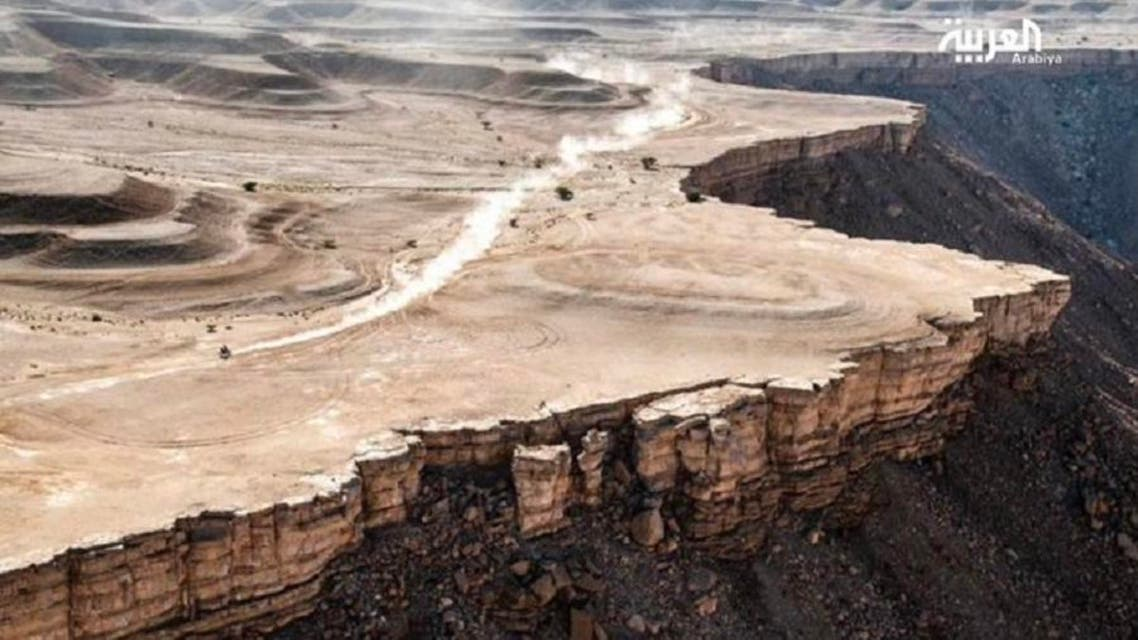 Spanish photographer Charlie Lopez's image, which won the prize for the best shot in the Dakar 2020 Rally, reflects the nature and distinctive terrain that Saudi Arabia possesses. (Supplied)