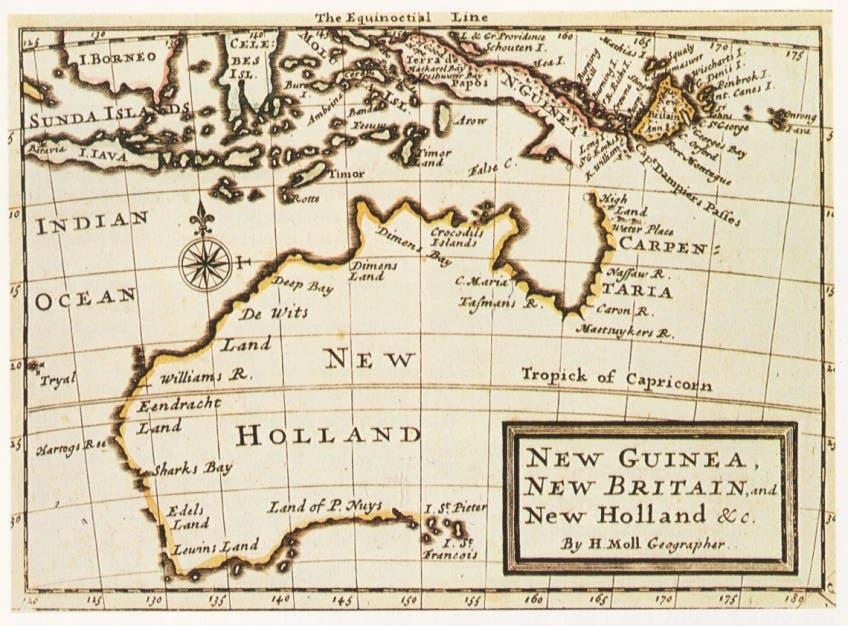 خريطة قديمة لهولندا الجديدة