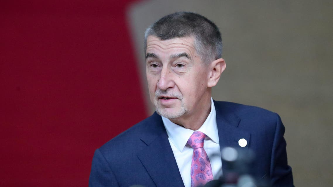 Czech Republic's Prime Minister Andrej Babis talks to the press at the European Union Summit in Brussels on December 13, 2019. (File photo: AFP)