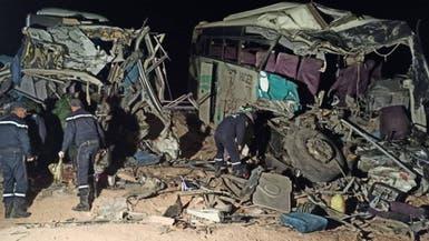 12 قتيلا باصطدام حافلتين شرق الجزائر