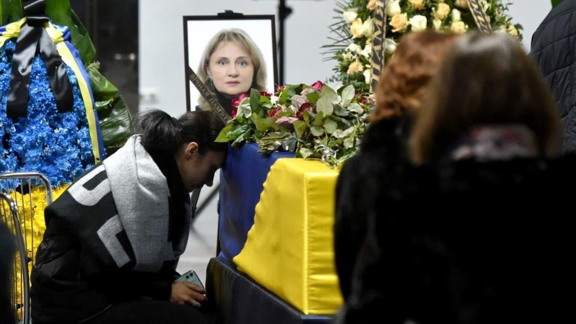 أقارب ضحايا الأوكرانية في كييف