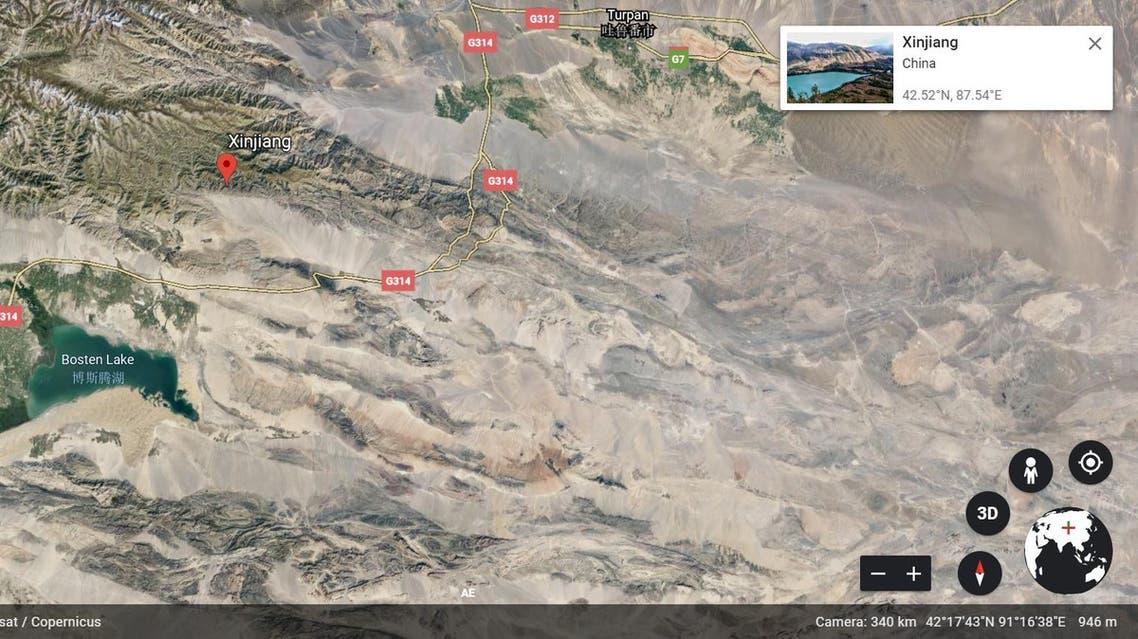 Xinjiang google earth