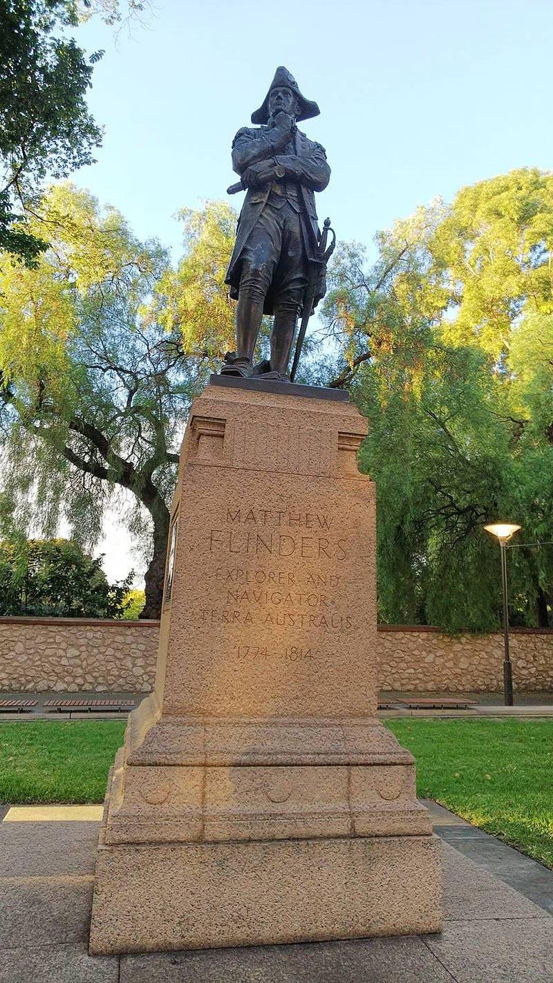 تمثال لفليندرز بأستراليا