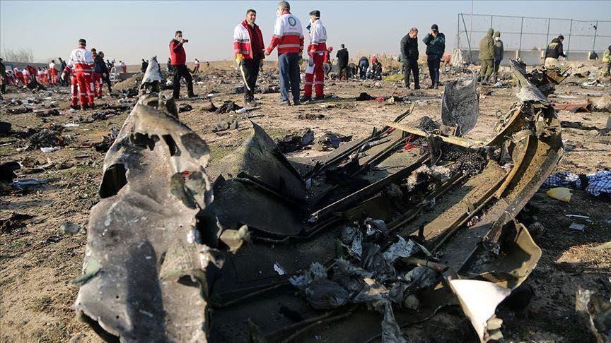 من موقع سقوط الطائرة