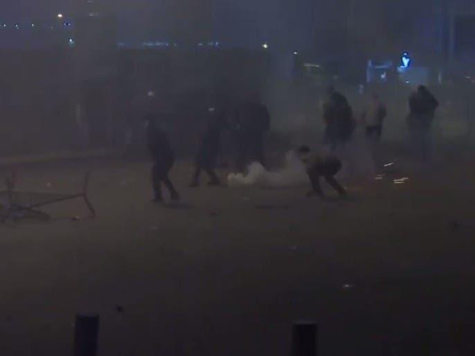 مئات الجرحى في ليلة عنيفة ببيروت