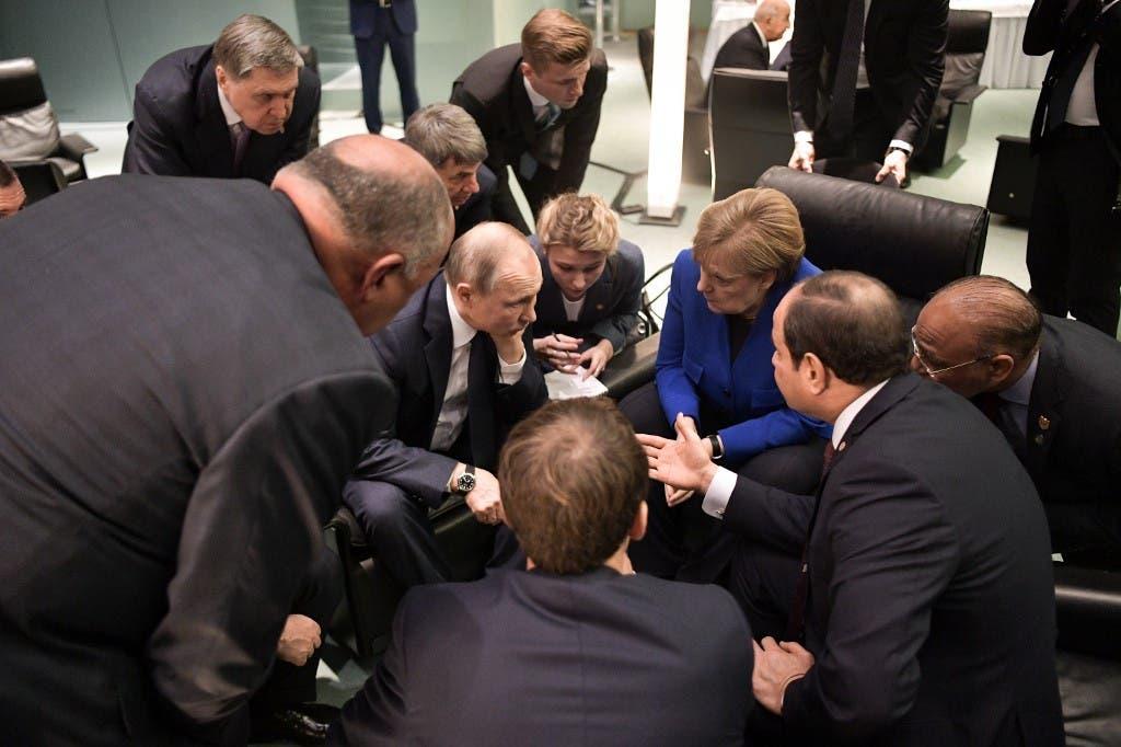 جانب من اجتماعات قمة برلين