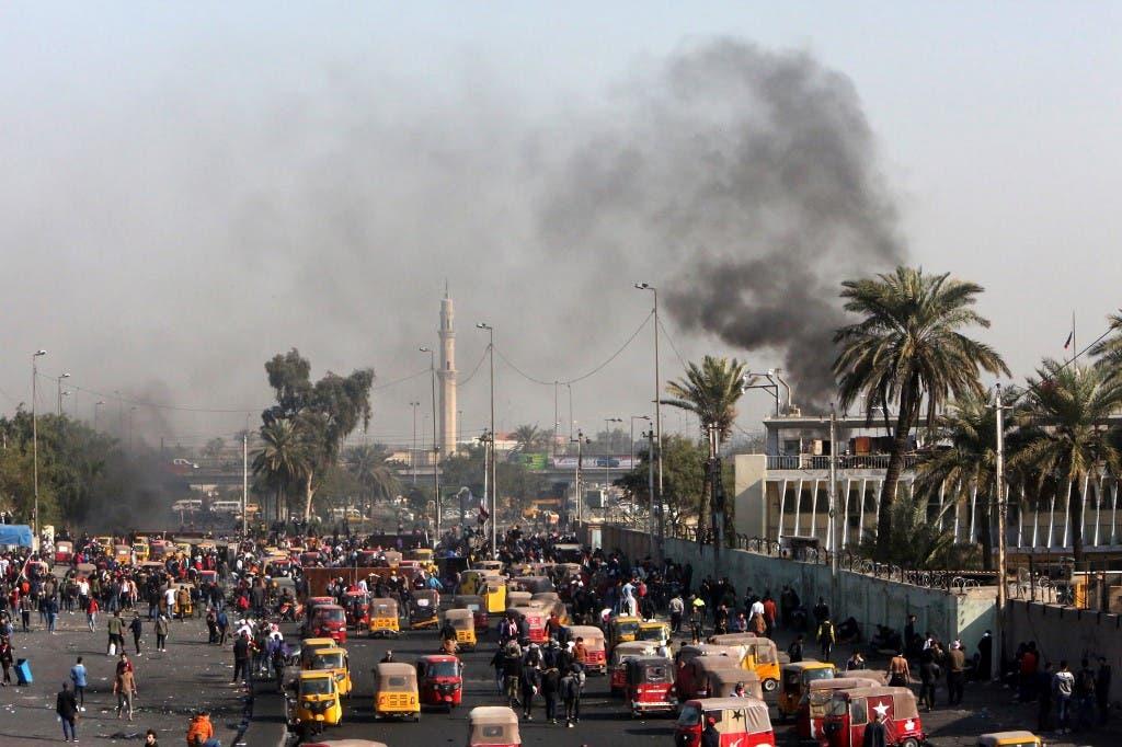مظاهرات وسط بغداد 20 يناير - فرانس برس