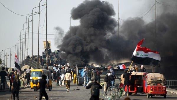 متظاهرو بغداد يهتفون: ما نريدكم.. خلي إيران تفيدكم