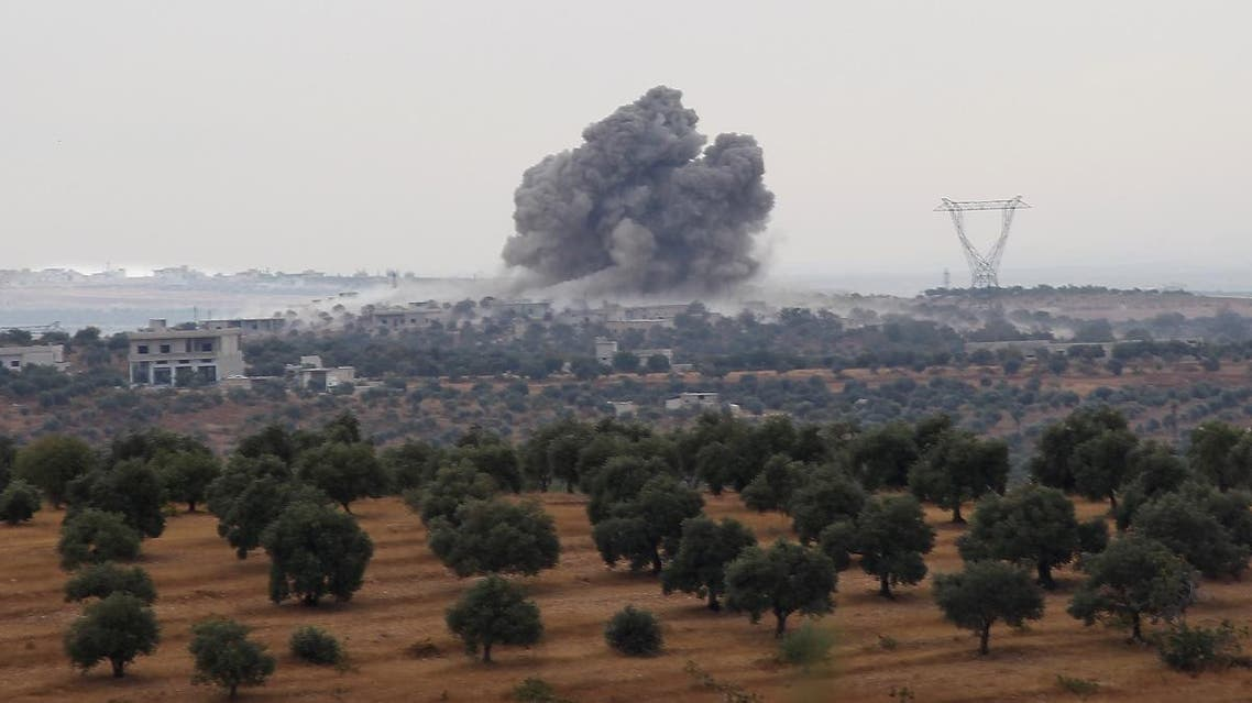 Smoke billows following a reported Russian airstrike in the south of the northwestern Syrian province of Idlib near the village of Rakaya, on October 24, 2019. (File photo: AFP)