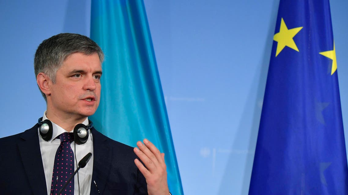 Ukrainian Foreign Minister Vadym Prystaiko at a press conference in Berlin on December 20, 2019. (File photo: AFP)