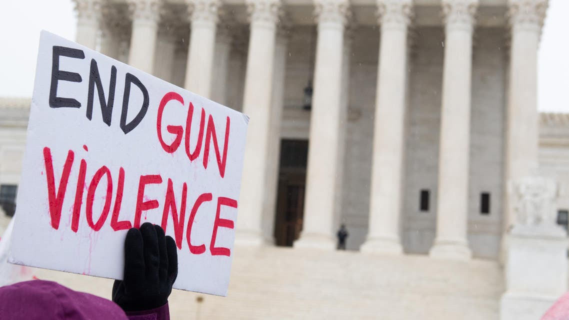 Supporters of gun control and firearm safety measures hold a protest rally outside the US Supreme Court in Washington, DC, December 2, 2019. (File photo: AFP)
