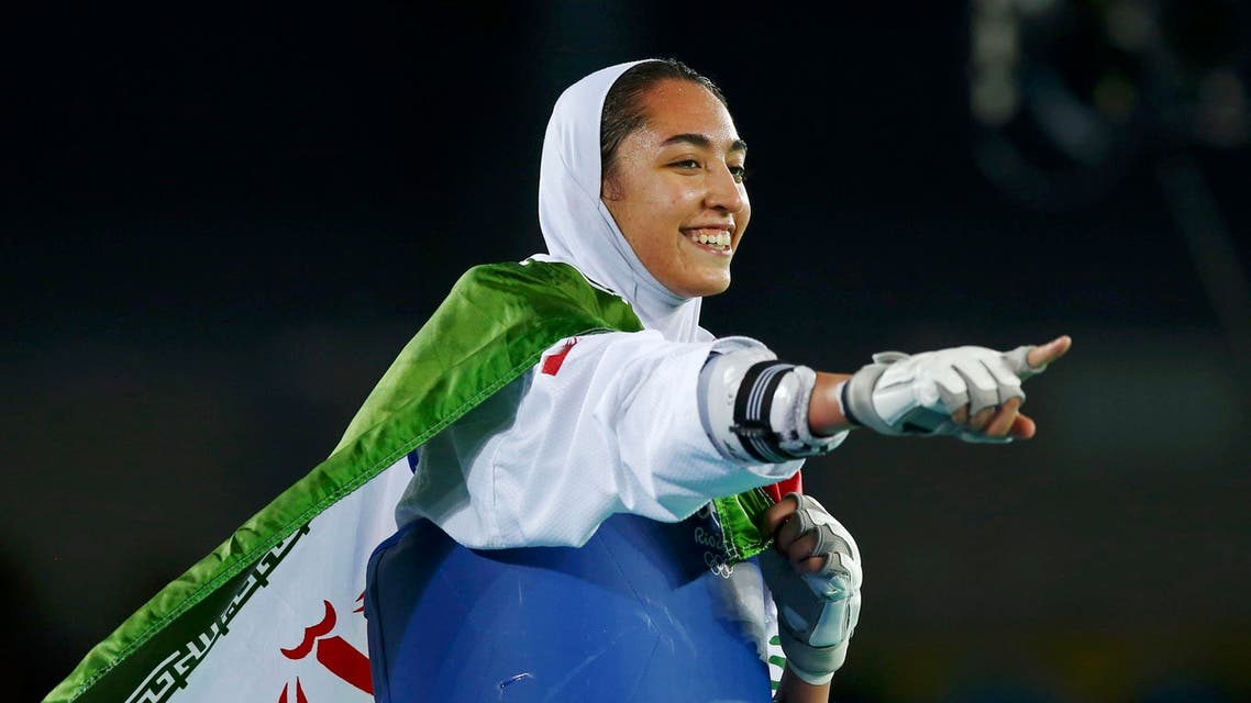 Picture shows Kimia Alizadeh at the 2016 Rio Olympics. (File photo: Reuters)