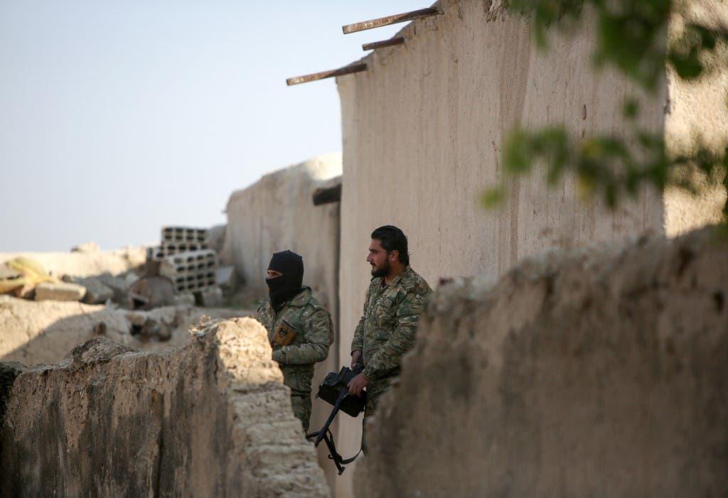 مقاتلون موالون لأنقرة في سوريا - فرانس برس