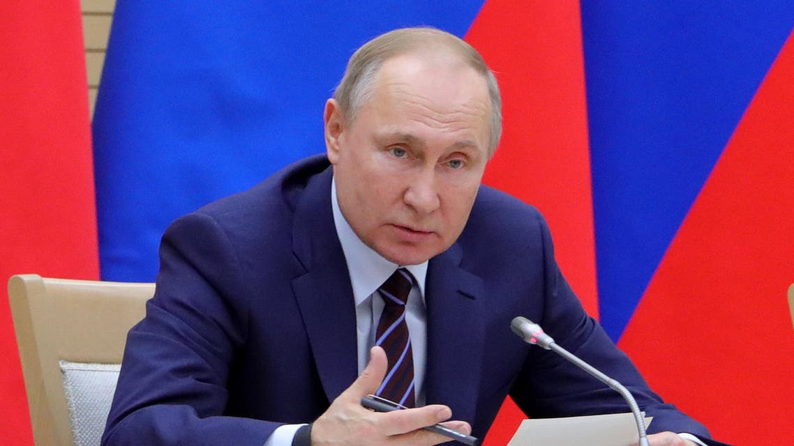 Russian President Vladimir Putin meets with his newly formed working group for amending the constitution outside Moscow on January 16, 2020. (File photo: AFP)