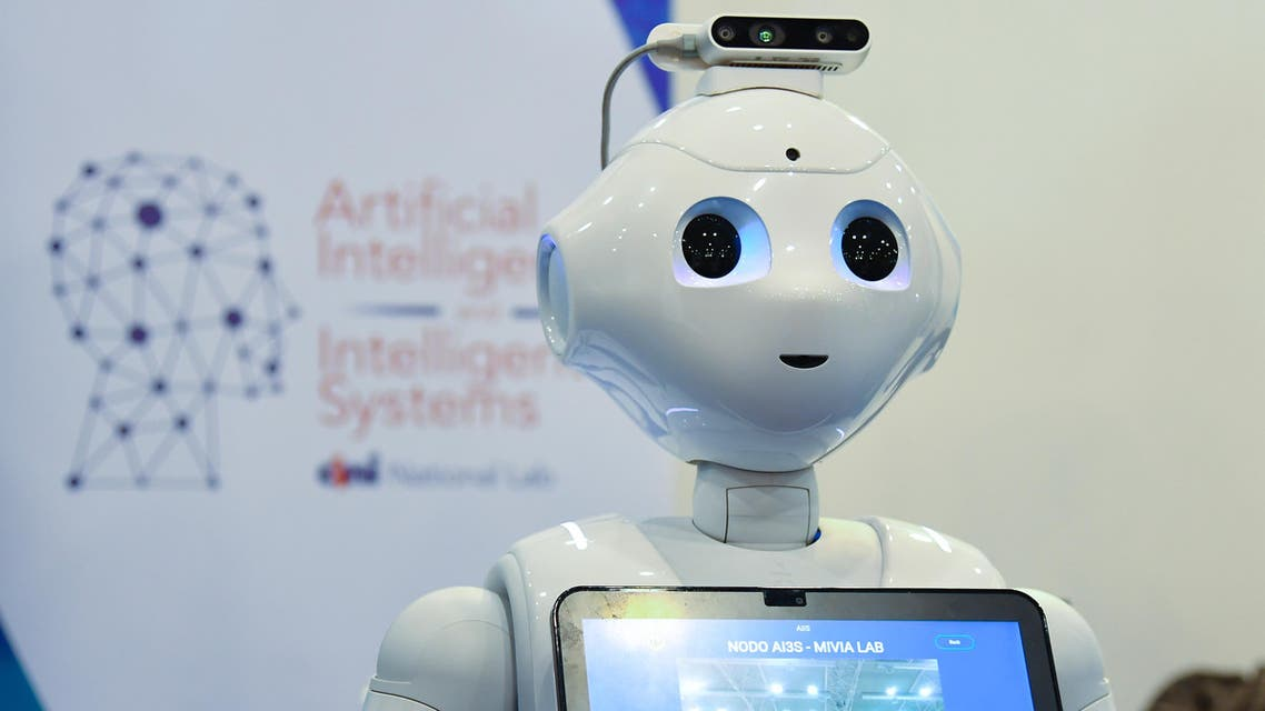 A robot from the Artificial Intelligence and Intelligent Systems (AIIS) laboratory of Italy's National Interuniversity Consortium for Computer Science (CINI) is displayed at the 7th edition of the Maker Faire 2019, the greatest European event on innovation, on October 18, 2019 in Rome. Andreas SOLARO / AFP