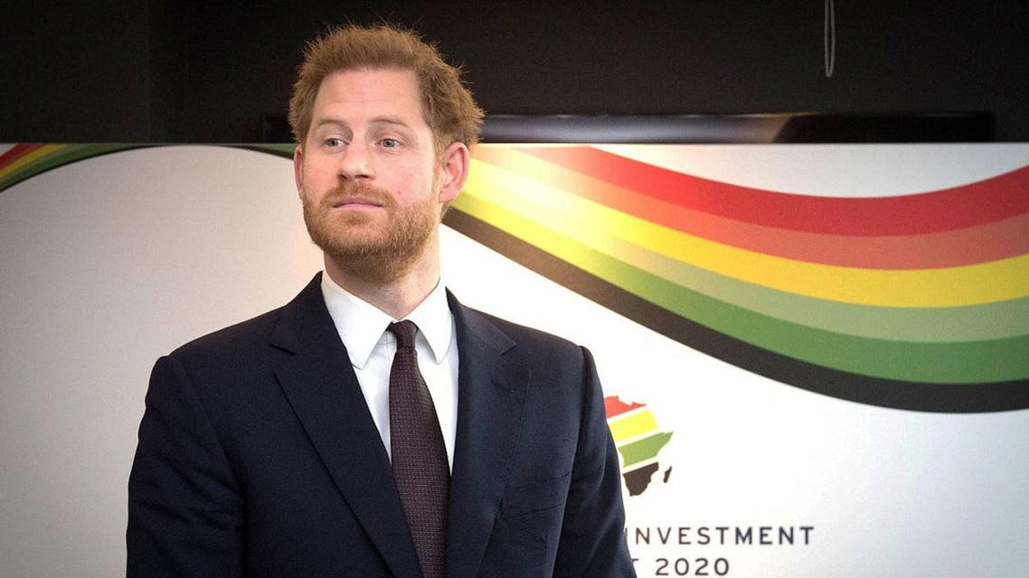 Britain's Prince Harry attends the UK-Africa Investment Summit at the Intercontinental Hotel in London. (Reuters)