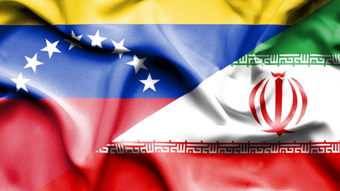 venezuela iran flag istock