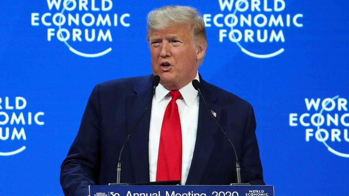 US President Donald Trump delivers a speech during the 50th World Economic Forum (WEF) annual meeting in Davos, Switzerland, January 21, 2020. (Photo: Reuters)