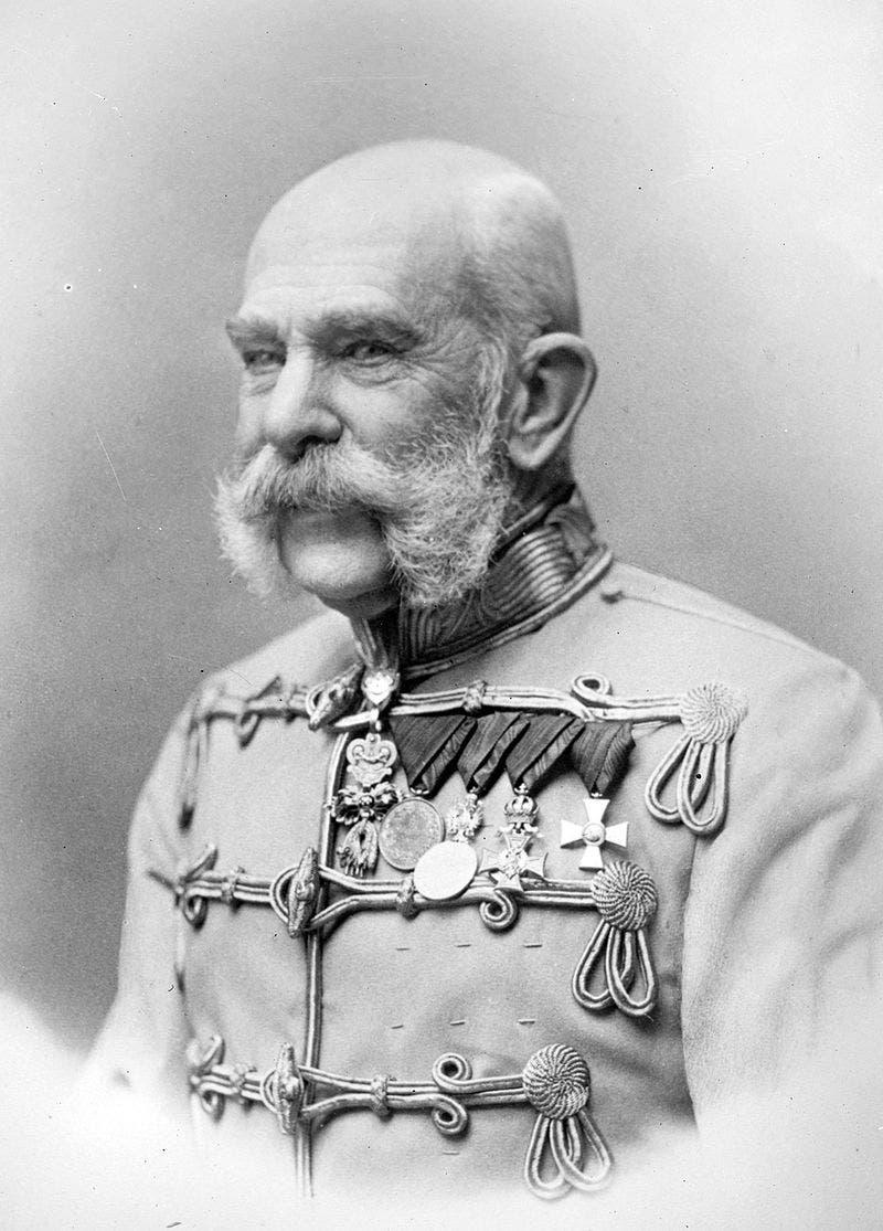 صورة لإمبراطور النمسا فرانز جوزيف