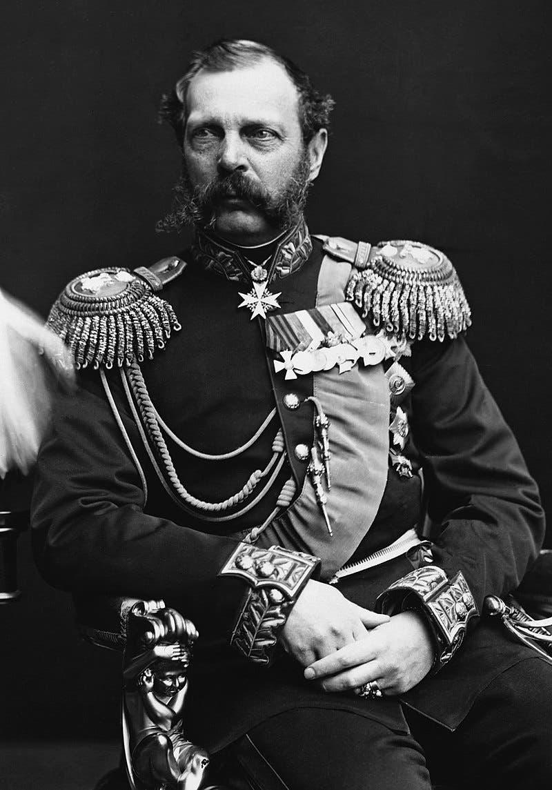 صورة لإمبراطور روسيا ألكسندر الثاني