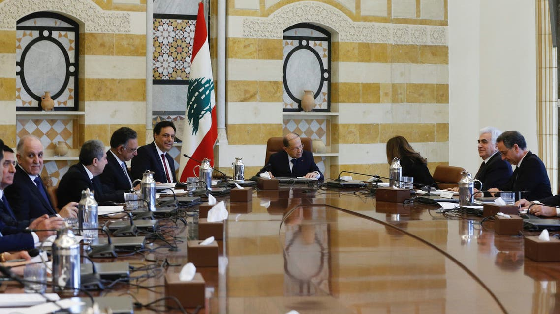 Lebanon's President Michel Aoun heads the first meeting of the new cabinet at the presidential palace in Baabda, Lebanon January 22, 2020. REUTERS/Mohamed Azakir