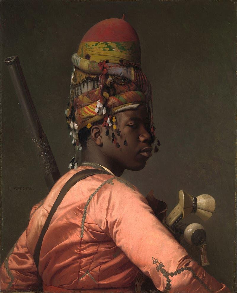 لوحة للفنان جان ليون جيروم رسمت عام 1869 لأحد عناصر قوات الباشبوزق