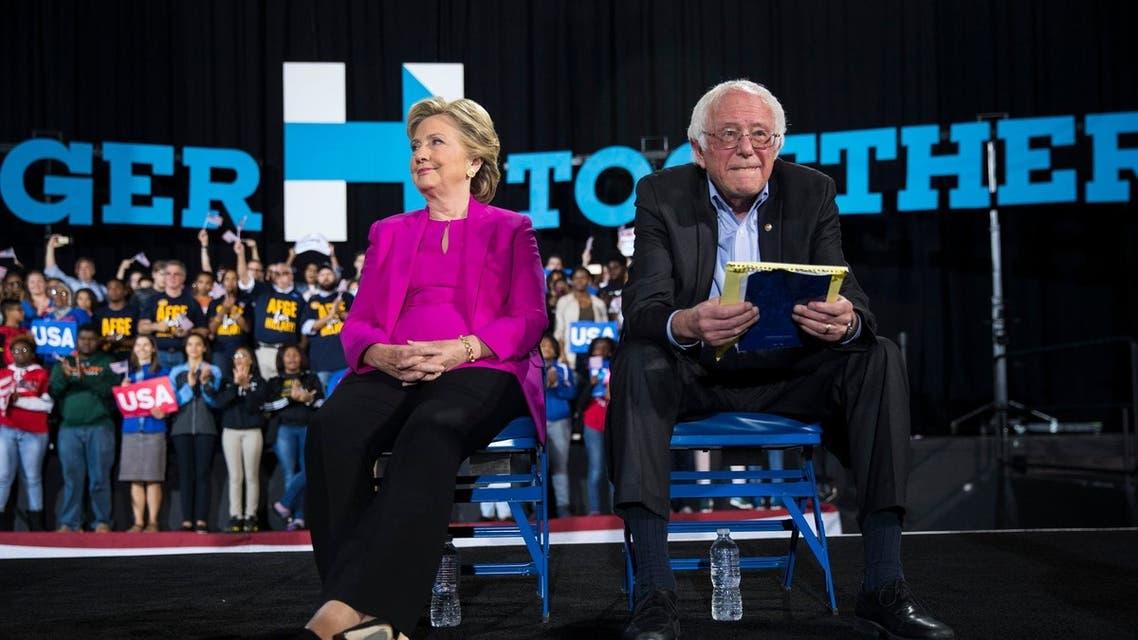 بيرني ساندرز و هيلاري كلينتون