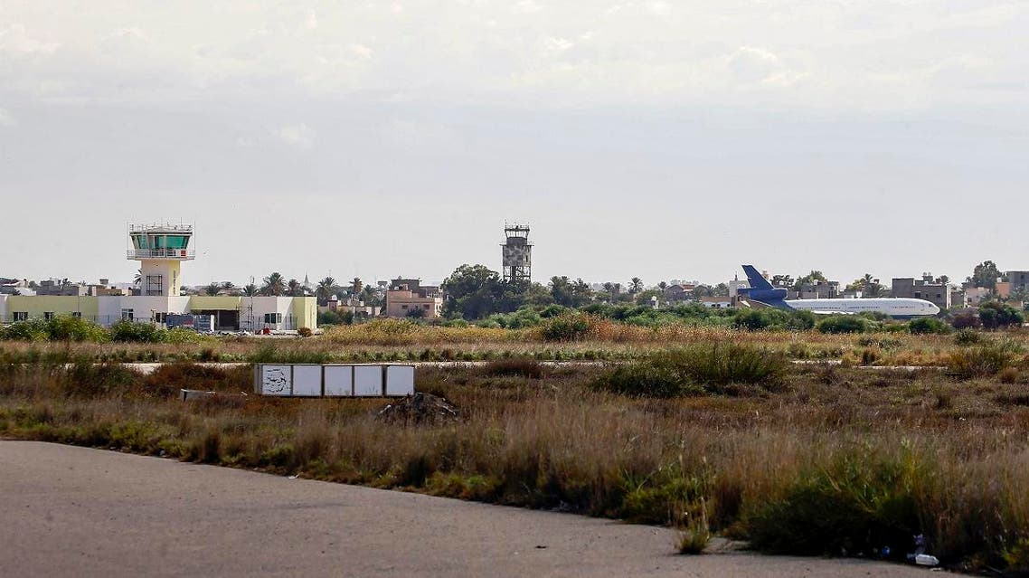 A file photo taken on October 29, 2019 shows a view of the Libyan capital Tripoli's Mitiga International Airport. (AFP)