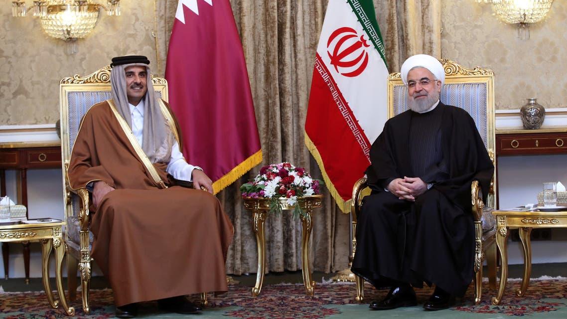 الرئيس الإيراني حسن روحاني ةأمير قطر تميم بن حمد